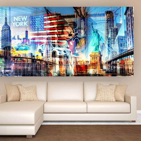 New York Kunst Collage | Neues Kunst Bild Skyline