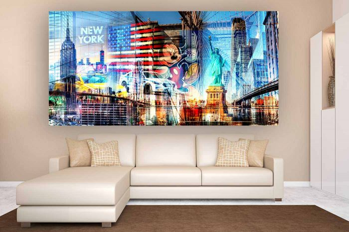 New York Kunst Collage | Neues Kunst Bild Skyline
