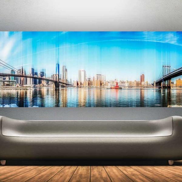 Kunst Skyline Collage New York | Modern Pop-Art Panorama Made in New York