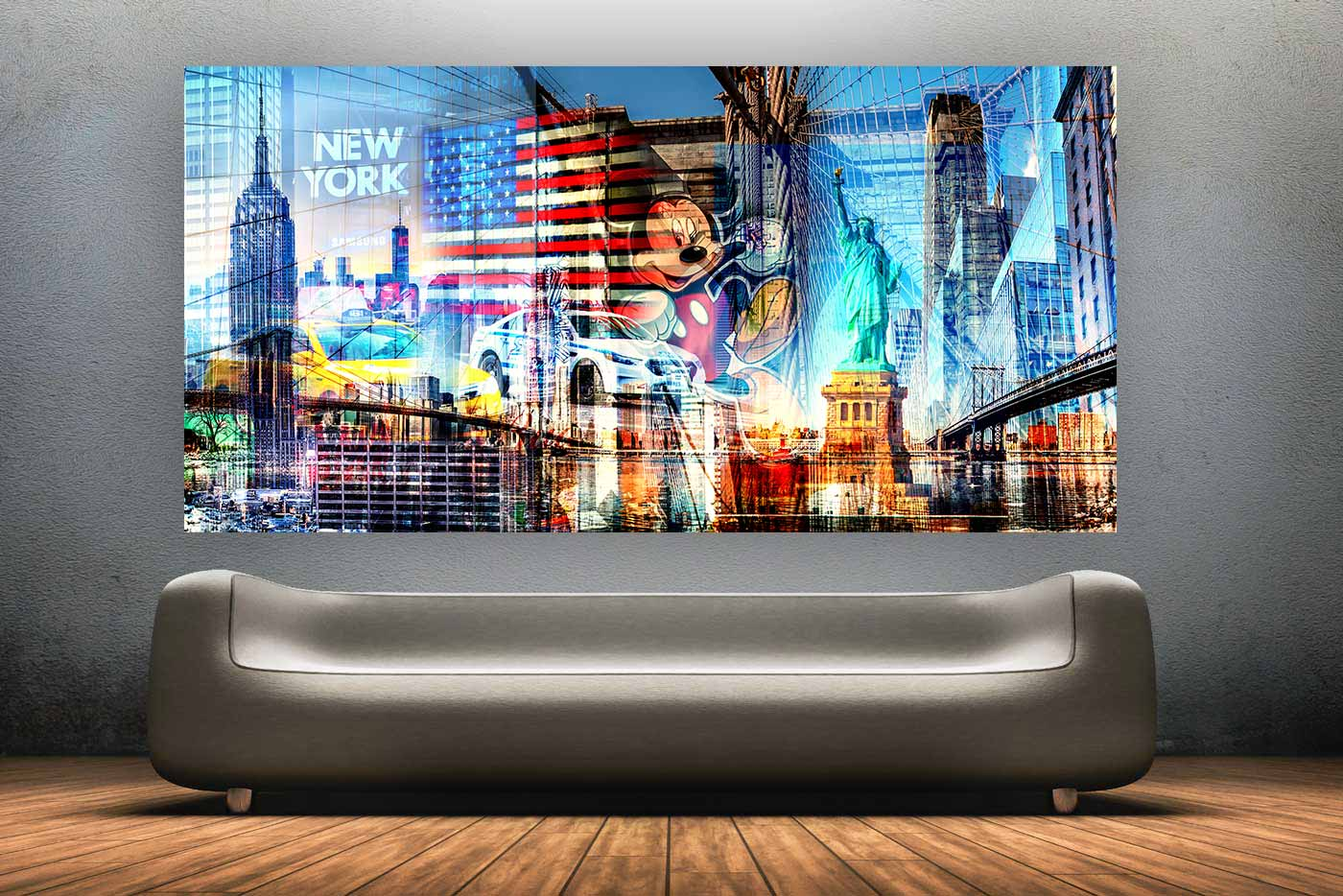 kunstbilder new york city panorama und xl bilder f r deine wand. Black Bedroom Furniture Sets. Home Design Ideas