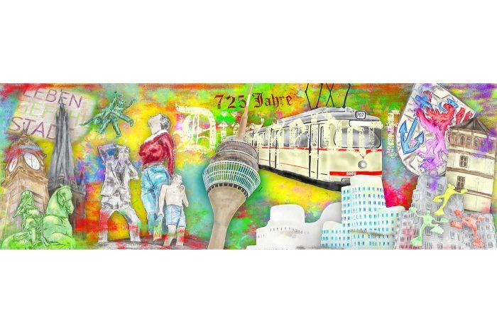 Kunst Collage 725 Jahre Düsseldorf | Modernes Düsseldorf Motiv Best of
