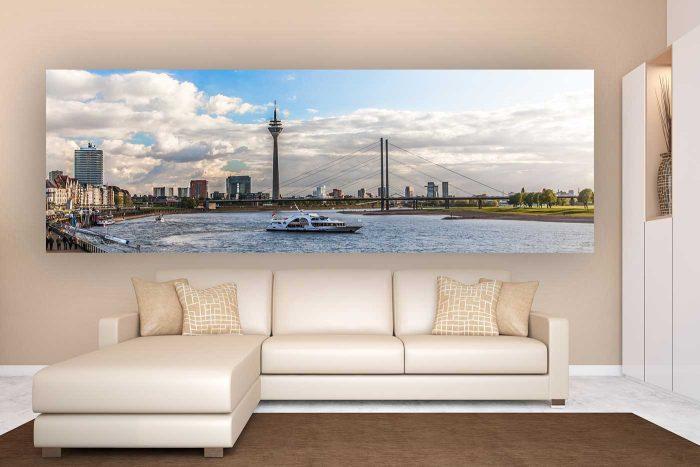 Düsseldorfer Panorama Rheinansicht | Skyline View der Besten Stadt am Rhein