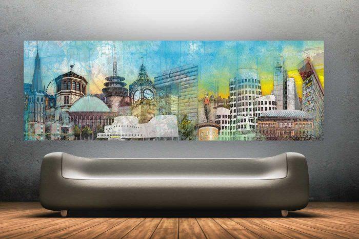 Düsseldorf : Best of the Town | Kunst Panorama Collage im Verhältnis 2:1
