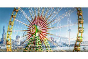 Rheinkirmes Düsseldorf Panorama Bild | Kunst Collage und Bild der Rheinkirmes