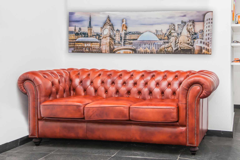 Panorama Kunst Bild in der Grösse 160x40 auf Leinwand