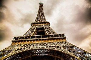 Fotokunst und Panorama Bild aus Paris | Eifelturm Sky View