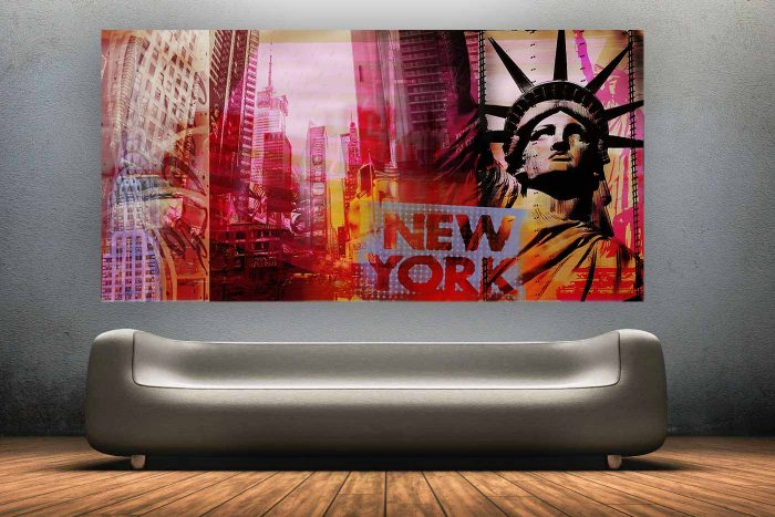New York Pop Art Kunst Bild | Stadt New York als moderne Pop Art Kunst Collage