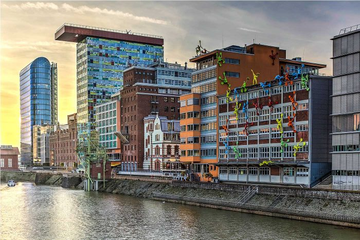 Düsseldorf Medienhafen Panorama   Sundowner over D'twon Harbor