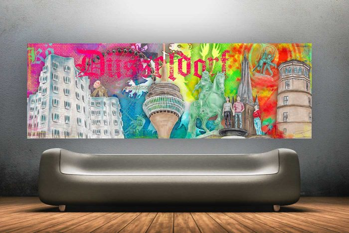 Handmade Kunst Panorama Collage 2.0 | Best of our Town Düsseldorf