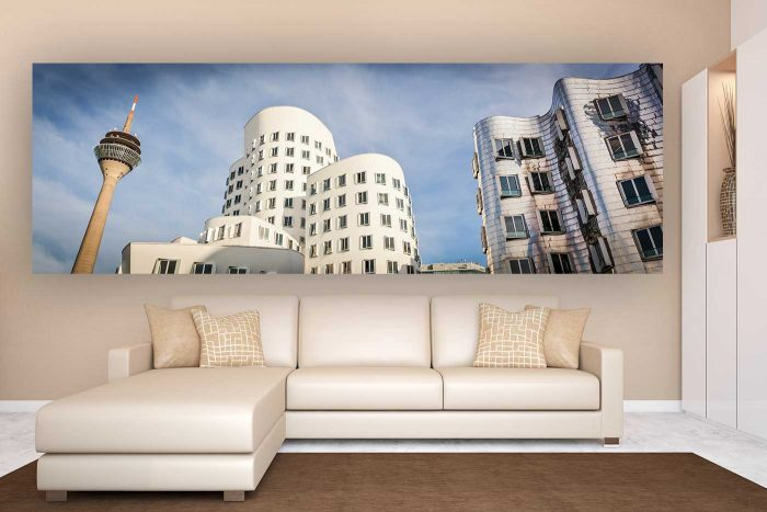 Düsseldorf Kunst Panorama Collage | Düsseldorf Medienhafen meets Gehry