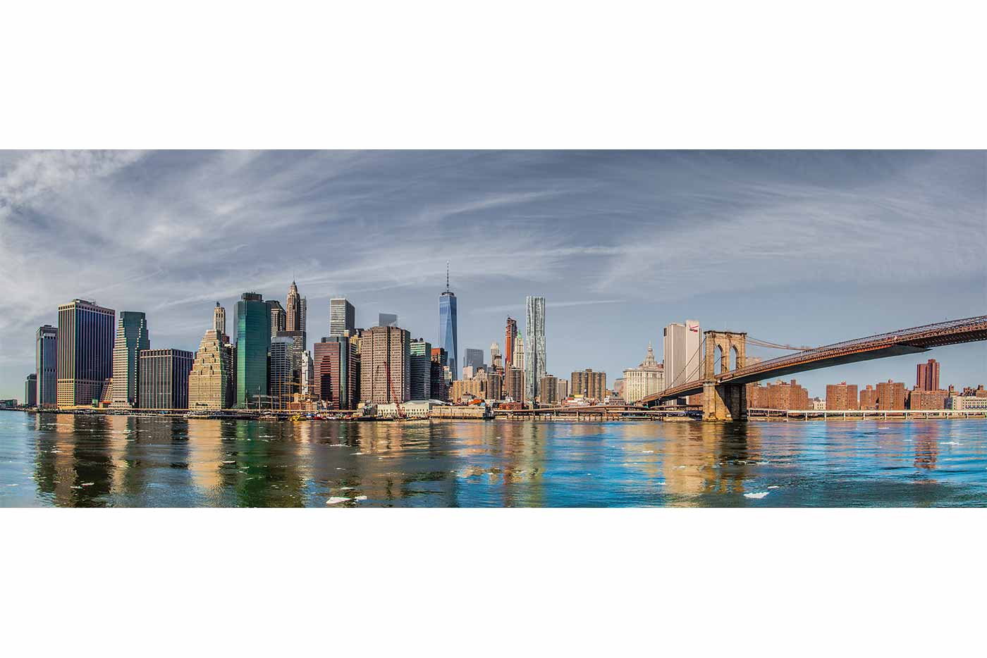 leinwandbilder new york city panorama kunst bilder vom hudson. Black Bedroom Furniture Sets. Home Design Ideas