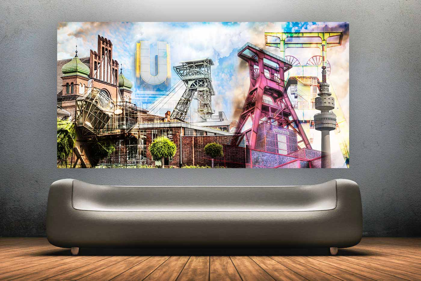 bild ruhrgebiet panorama kunst collage pott meets pop art. Black Bedroom Furniture Sets. Home Design Ideas