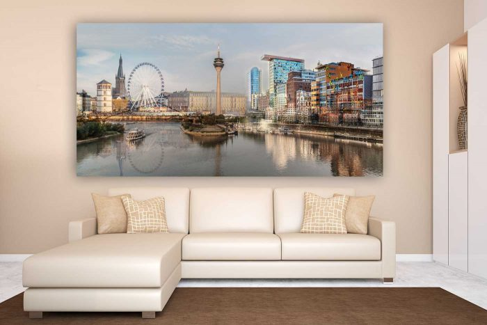 Kunst Panorama Collage City Love | Kunst Bilder Made in Düsseldorf