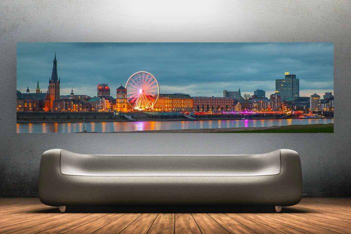 @ Night Part 3 | Düsseldorf Skyline und Panorama Fotokunst Motiv Kasematten @ Night